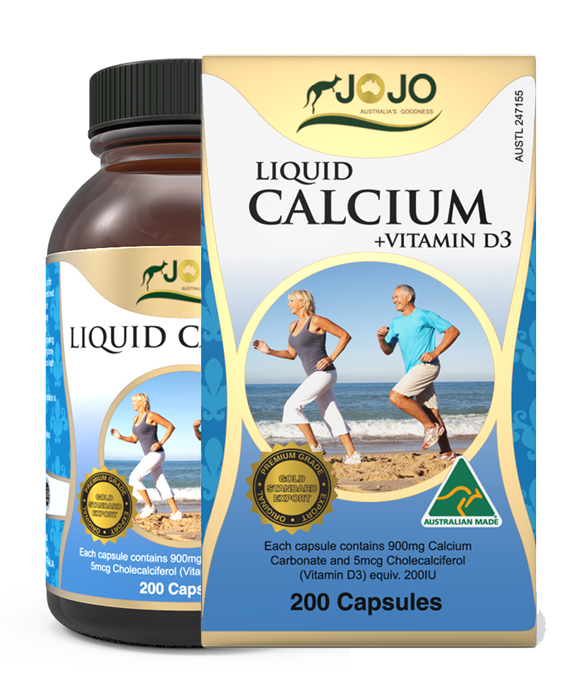 Liquid Calcium Plus Vitamin D3 200 Capsules